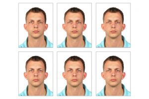 An example set of normal passport photos at ASA Foto & Film.