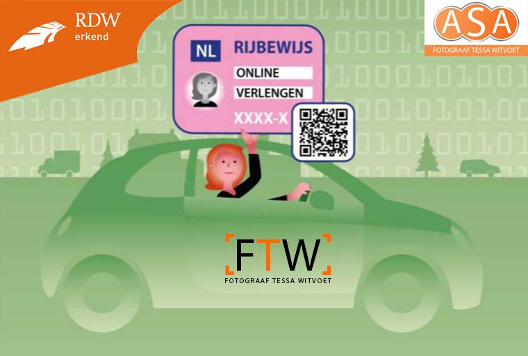 RDW recognized ASA Photographer Tessa Witvoet driving license passport photo